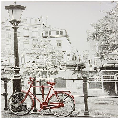 Tela Impressa Bicicleta Vermelha Fullway - 50x50 cm