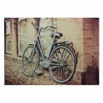 Tela Impressa Bike Azul Fullway em MDF - 100x70 cm