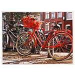 Tela Impressa Bikes Vermelha Fullway - 60x80 cm