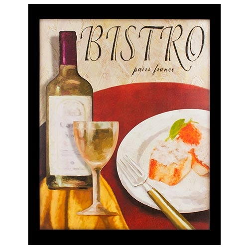 Tela Impressa Bistro Vinho Branco Fullway - 100x80 cm