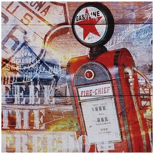 Tela Impressa Bomba Gasolina Red Star Fullway - 50x50 cm