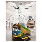 Tela Impressa Bondinho Rio de Janeiro Fullway - 40x30 cm