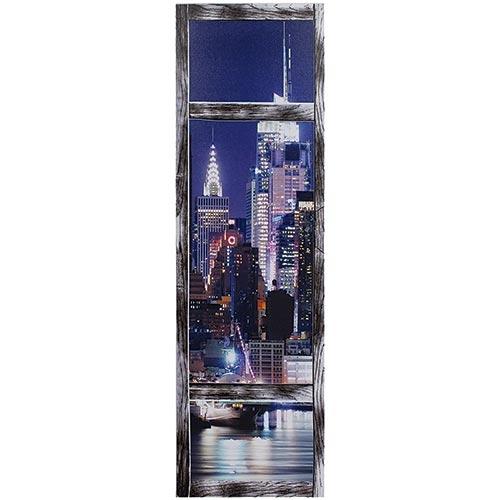 Tela Impressa c/ Leds Vista City Empires Fullway - 100x30 cm