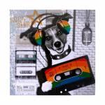 Tela Impressa Cachorro com Fitak7 Fullway - 80x80x4 cm