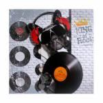 Tela Impressa Cachorro com Fones e Disco Fullway - 80x80x4 cm