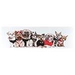Tela Impressa Cachorros Fundo Branco Fullway - 30x100 cm