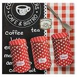Tela Impressa Café Bistrô Pots Fullway com Metal - 50x50 cm