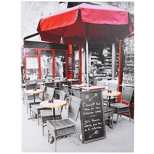 Tela Impressa Caffe Obrelone Vermelho Fullway - 80x60 cm