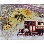 Tela Impressa Calhambeque c/ Flor 2 Fullway - 50x60 cm