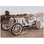 Tela Impressa Carro de Corrida Antigo Fullway