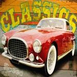 Tela Impressa Carro Vermelho Classic Fullway - 100x80 cm