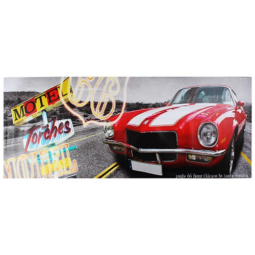Tela Impressa Carro Vermelho Fullway - 60x150 cm