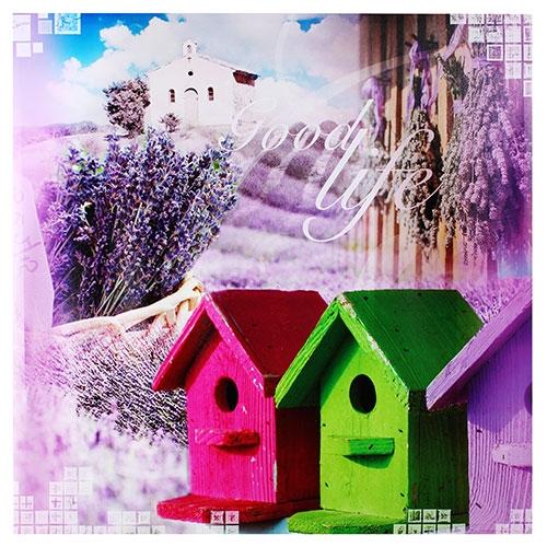 Tela Impressa Casa Pássaro Good Life Fullway - 90x90 cm