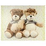 Tela Impressa Casal de Urso Fullway - 50x40 cm