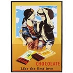 Tela Impressa Chocolate First Love Fullway - 70x50 cm