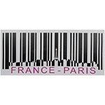 Tela Impressa Código de Barras France Paris Fullway