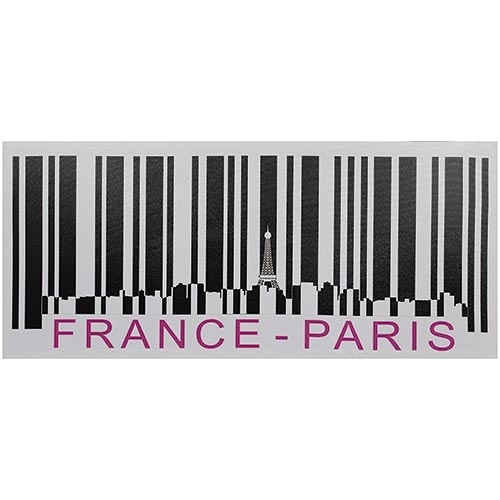 Tela Impressa Código de Barras France Paris Fullway - 40x90 cm