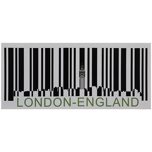 Tela Impressa Código de Barras London England Fullway - 40x90 cm