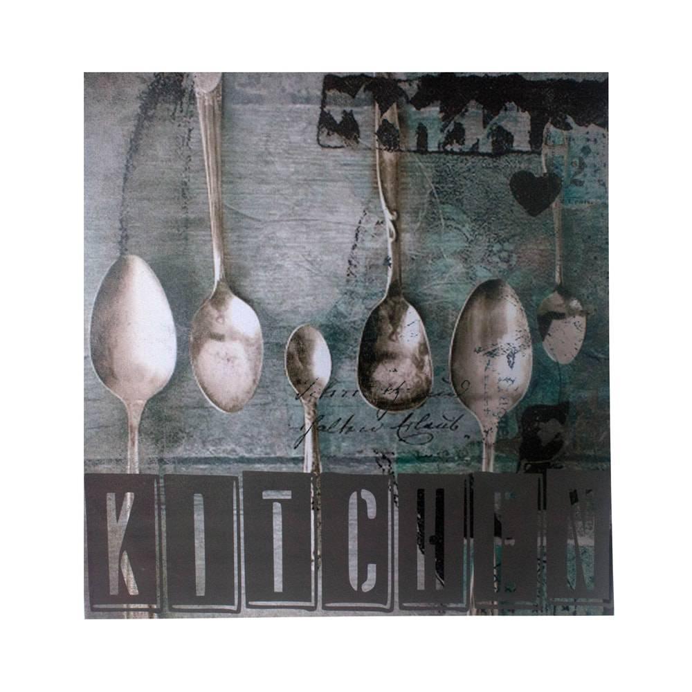 Tela Impressa Colheres Kitchen Fullway - 90x90x4 cm