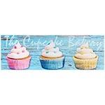 Tela Impressa Cupcakes Fullway - 90x30 cm