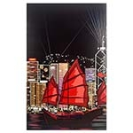 Tela Impressa Desenho de Barco com LED Fullway - 130x80 cm
