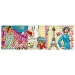 Tela Impressa Desenho e Cores de Paris Fulway - 120x40 cm