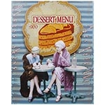 Tela Impressa Dessert Menu Fullway - 50x40 cm