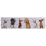 Tela Impressa Dogs Vários Corações Fullway - 30x120 cm