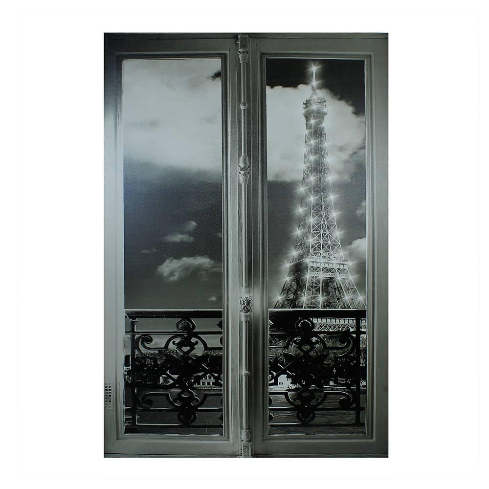 Tela Impressa Eiffel Window Fullway - 80x120x4 cm