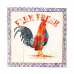 Tela Impressa Farm Fresh Oldway - 28x28x4 cm