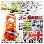 Tela Impressa Fotos London Fullway - 120x120 cm
