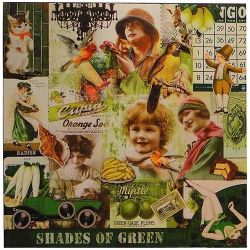Tela Impressa Fotos Vintage Green Fullway - 70x70 cm