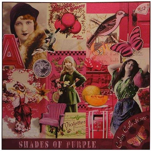 Tela Impressa Fotos Vintage Pink Fullway - 70x70 cm