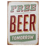 Tela Impressa Free Beer Tomorrow Fullway - 70x50 cm