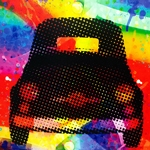 Tela Impressa Frente Fiat 500 Colors Fullway - 120x120 cm