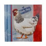 Tela Impressa Galinha Roaster Farm Oldway - 50x50x3 cm