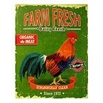 Tela Impressa Galo Farm Fresh Fullway - 80x60 cm