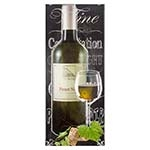 Tela Impressa Garrafa de Vinho Branco Fullway - 150x60 cm