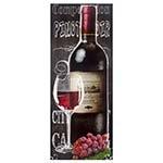 Tela Impressa Garrafa de Vinho Tinto Fullway - 150x60 cm