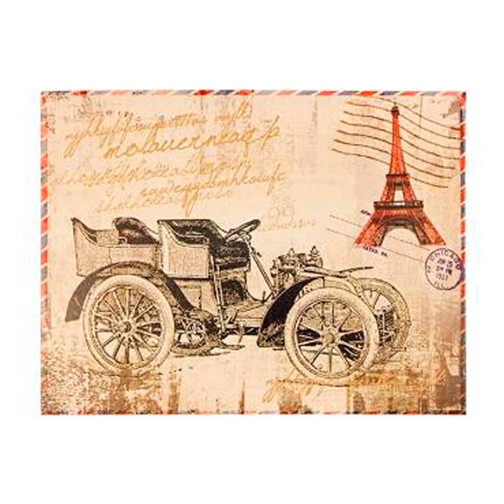 Tela Impressa Horizontal Postal Paris Oldway - 30x40x3 cm