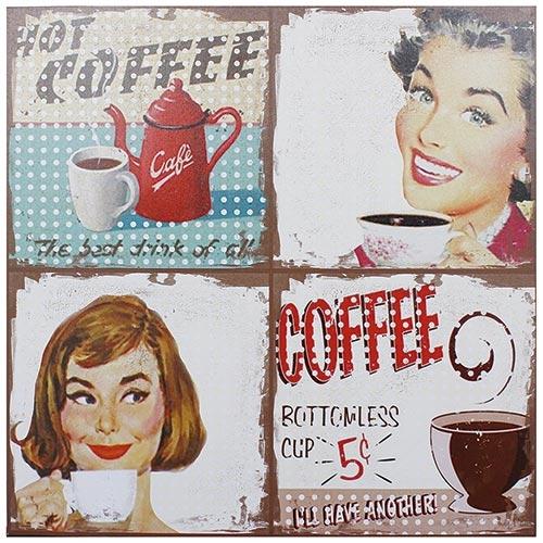 Tela Impressa Hot Coffe Fullway - 80x80 cm