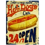 Tela Impressa Hot Dogs 24h Open Fullway