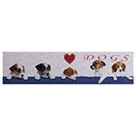 Tela Impressa I Love Dogs Fullway - 30x120 cm