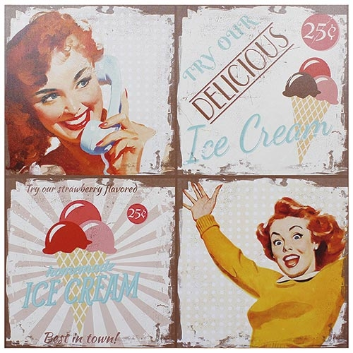 Tela Impressa Ice Cream Fullway - 80x80 cm