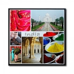 Tela Impressa India Fullway - 120x120 cm