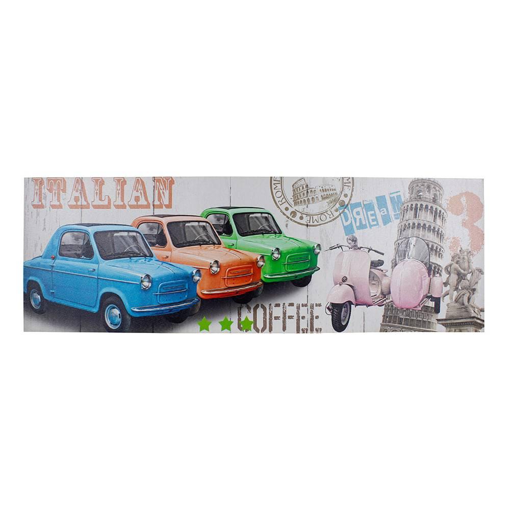 Tela Impressa Italian Candy Cars Fullway - 30x90x2,5 cm