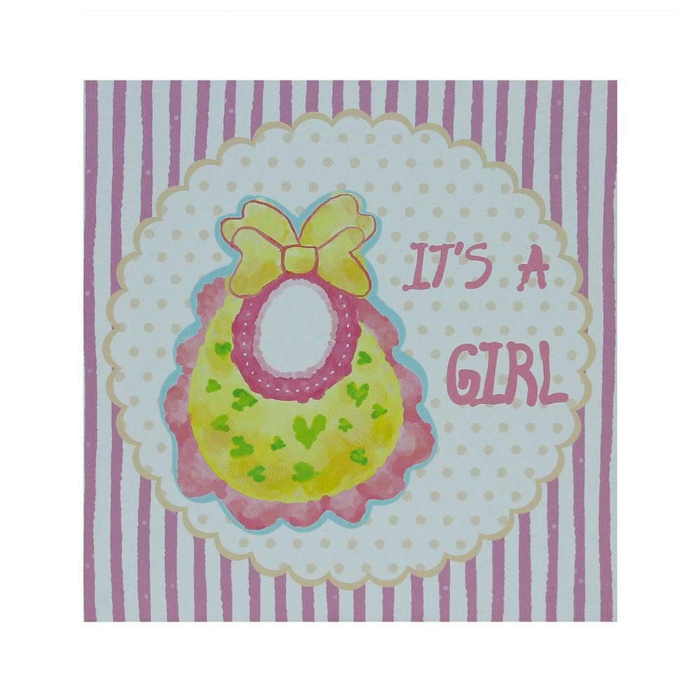 Tela Impressa Its a Girl Fullway - 20x20x4 cm