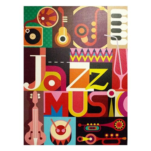 Tela Impressa Jazz Music Fullway - 120x90 cm
