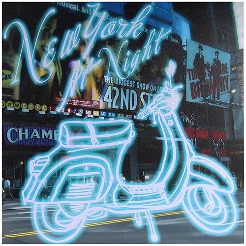 Tela Impressa Lambretta c/ Led New York At Night Fullway - 60x60 cm