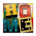 Tela Impressa com Led Home Fullway - 100x100x4 cm